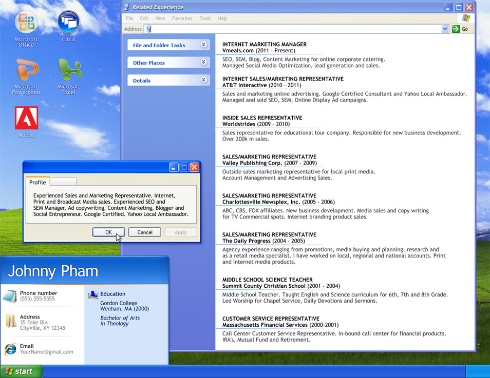 computer service repair sample resume node2004-resume-template