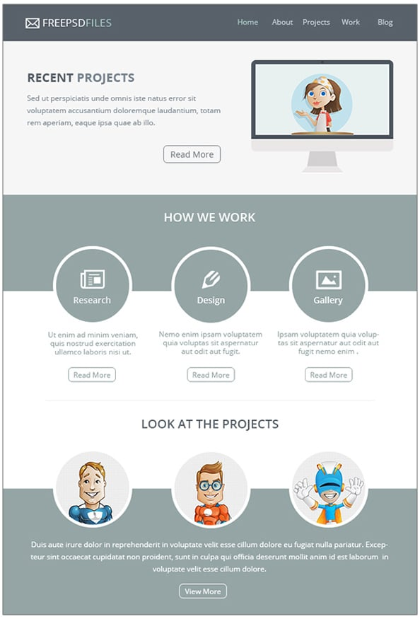 Free Email Newsletter Templates PSD » CSS Author - free newsletter layouts