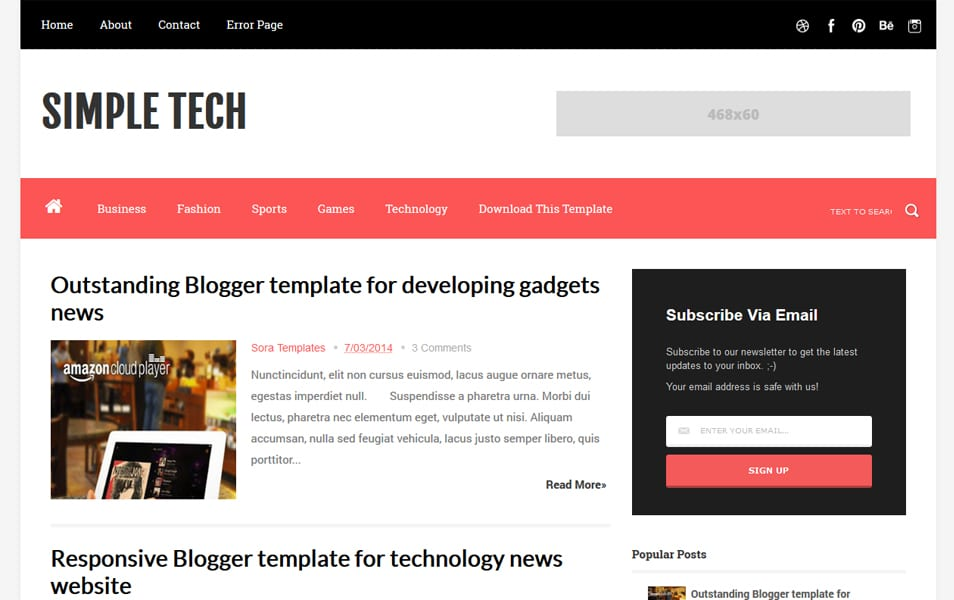 200+ Best Free Responsive Blogger Templates - fashion blogger templates