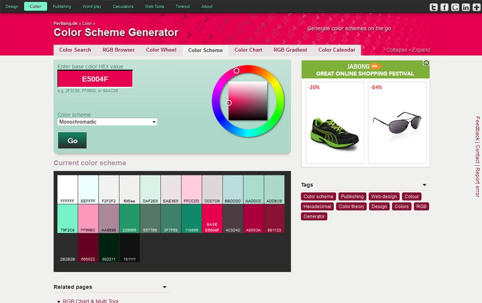Modern Web Page Color Scheme Generator Ensign - Coloring Page Ideas ...
