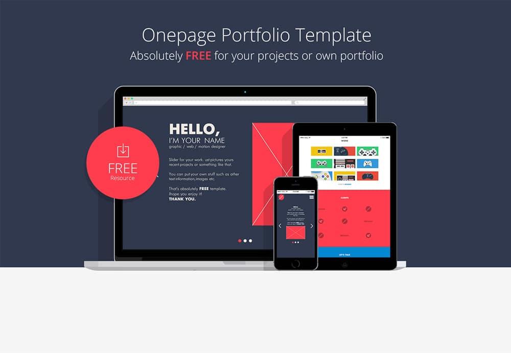 single page portfolio resume templates