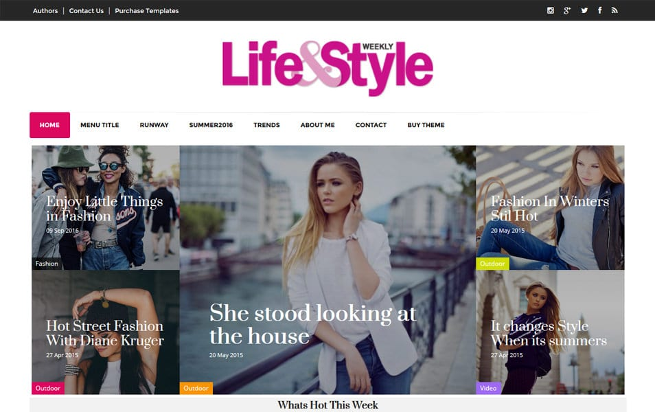 300+ Best Free Responsive Blogger Templates 2018 » CSS Author - fashion blogger templates