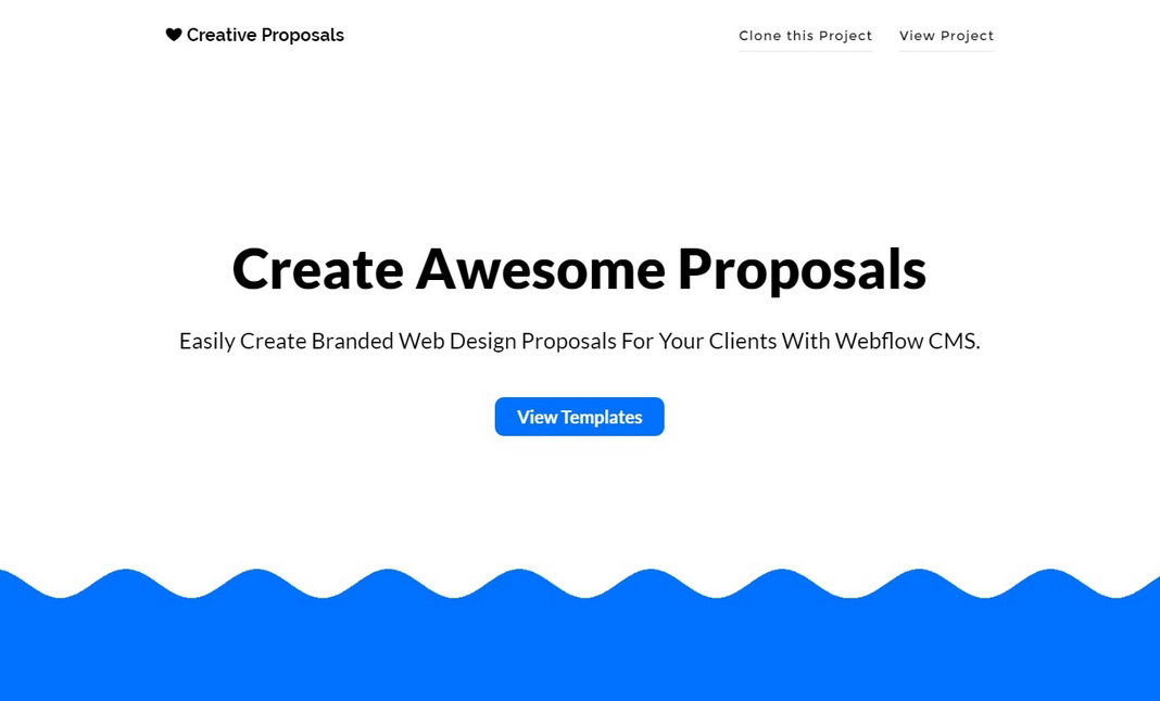Web Design Proposal Generator designed by Sidney Ottelohé - design proposal