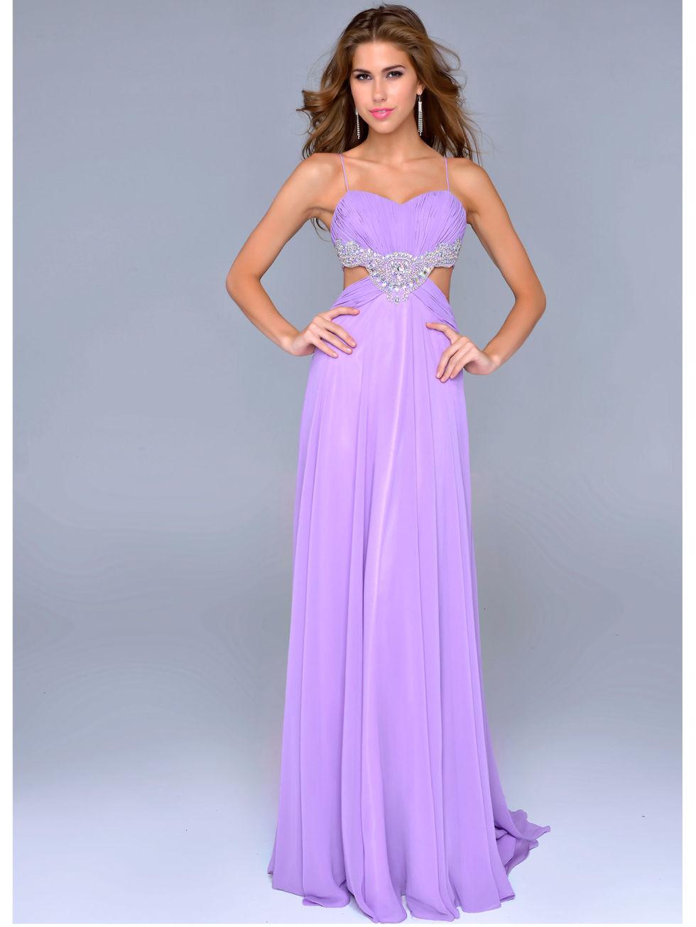 Light Purple Prom Dresses With Sleeves
