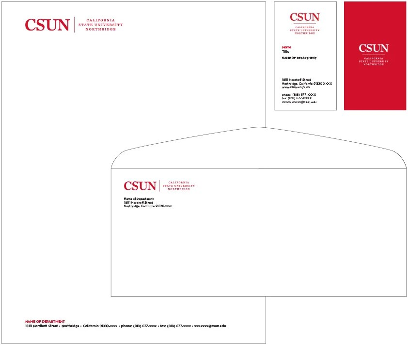 Stationery California State University, Northridge - official letterhead
