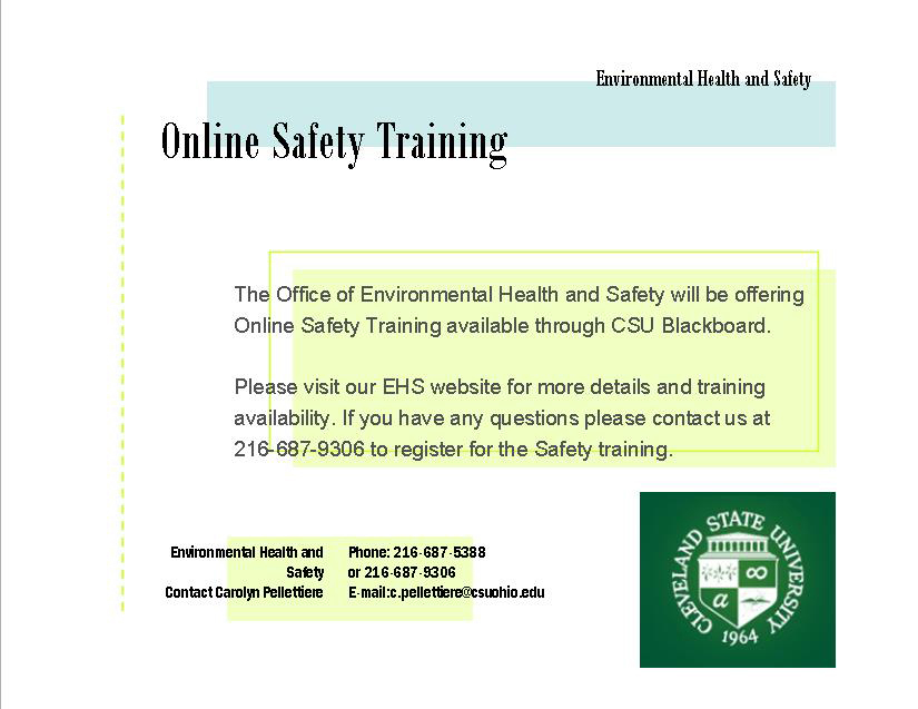 Online Safety Training Modules Cleveland State University