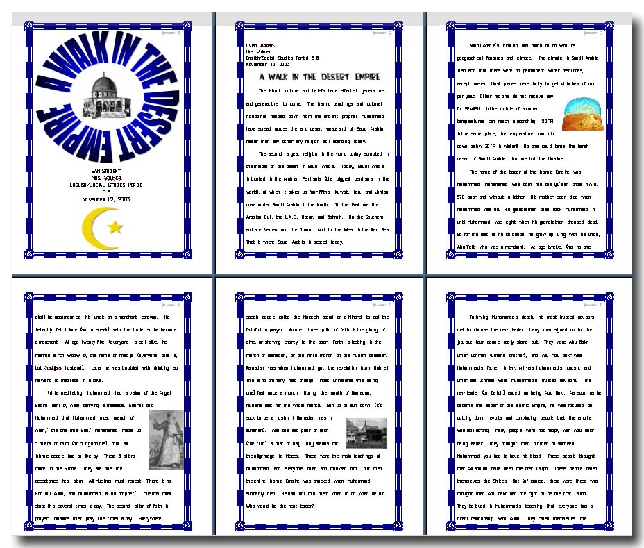 7th Grade Research Report