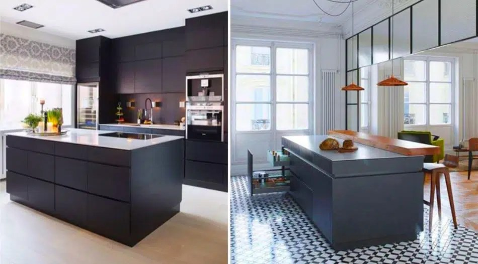23 petites cuisines avec ilot central  idées d\u0027aménagement et photos - Cuisine Design Avec Ilot Central