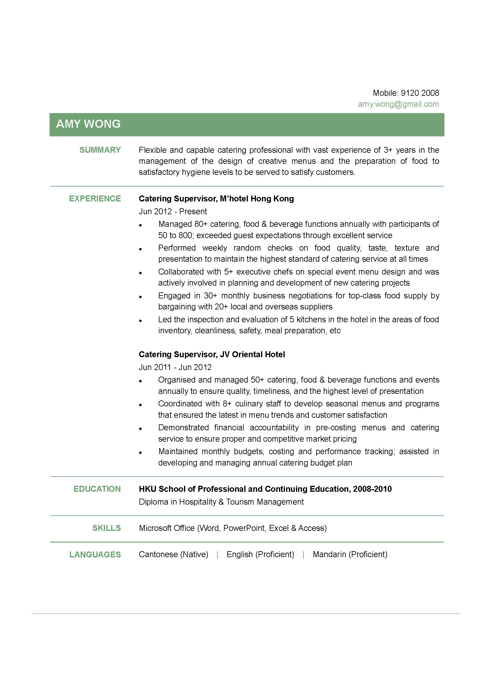 cv community service customer service resume example cv community service corporation for national and community service catering supervisor cv ctgoodjobs powered by career