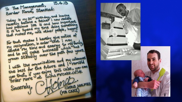 Sweetest resignation ever? Worker quits with letter on a cake CTV News - resignation letter cake