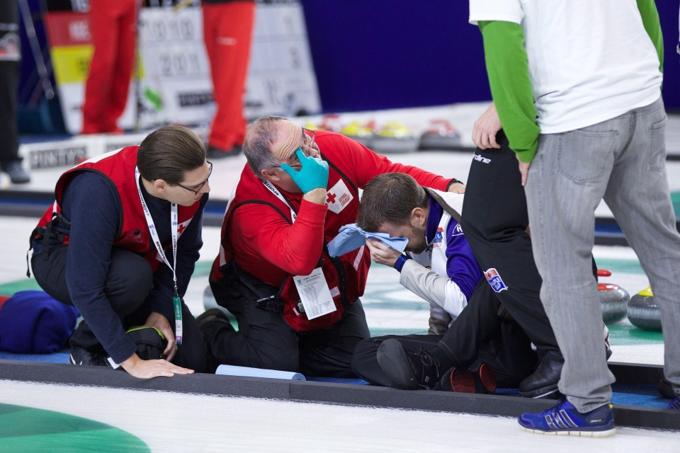 Curling Helmets Gushue Fall Renews Safety Gear Questions