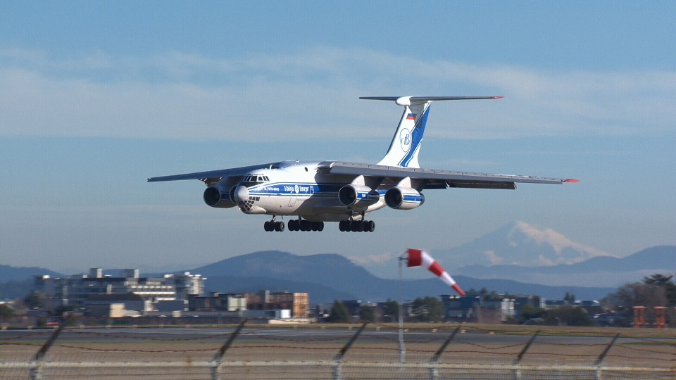 Cargo plane carrying firefighting helicopter to Chile takes off from