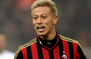MILAN, ITALY - JANUARY 15:  Keisuke Honda of AC Milan #10 during the TIM Cup match between AC Milan and AC Spezia at San Siro Stadium on January 15, 2014 in Milan, Italy.  (Photo by Claudio Villa/Getty Images)