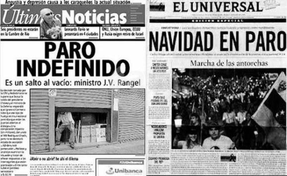 Diarios Venezuela golpe