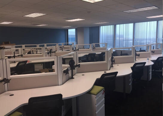 office design furniture installation in dallas tx for infogroup usa