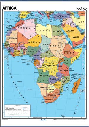 Mapa escolar de África \u2013 Mapa continente africano
