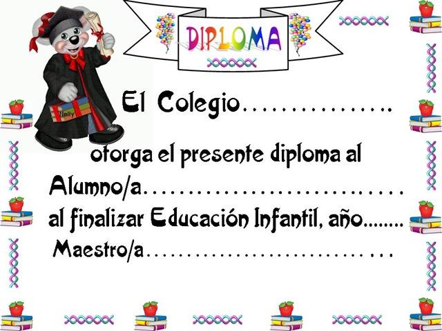 Diplomas de preescolar para editar gratis - Imagui