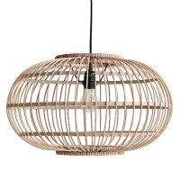 Bamboo Hanging Ceiling Light In Natural Finish - Hk Living ...