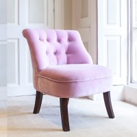 Velvet Occasional Tub Chair In Blossom - | Cuckooland