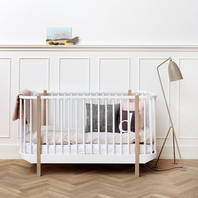 Oliver Furniture Baby Toddler Luxury Wood Cot Bed In Oak