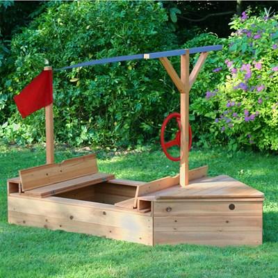 Wooden Garden Sailer Sand Pit By Garden Games Garden