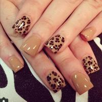 Pics For > Cute Nail Designs For Acrylic Nails Cheetah
