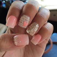 37 Beautiful Pink Glitter Nail Art Ideas | Nail Design Ideaz