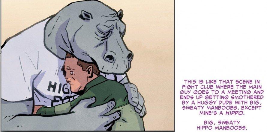 The Superior Foes of Spider-Man Sweaty Hippo Man Boobs