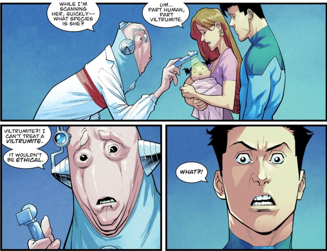 Invincible 119 part human part viltrumite