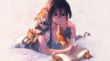 muses_with_wolves_by_nakanoart-da629pf