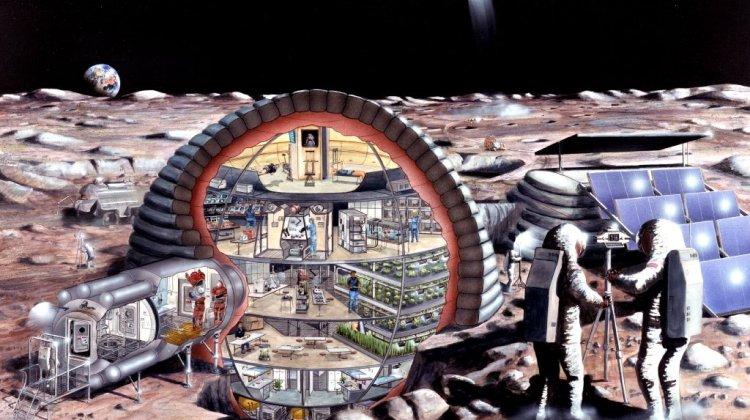 Marte Vs La Luna - Base Lunar Grande
