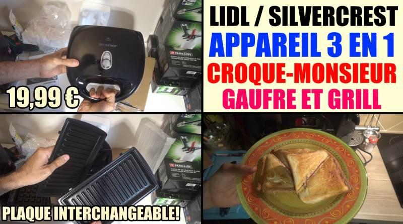 appareil croque monsieur silvercrest lidl gauffre grill ssmw 750 b2 presentation test avis