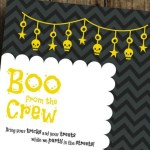 "DIY Printable ""Boo from the Crew"" Halloween Invite"