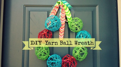 DIY Yarn Ball Wreath