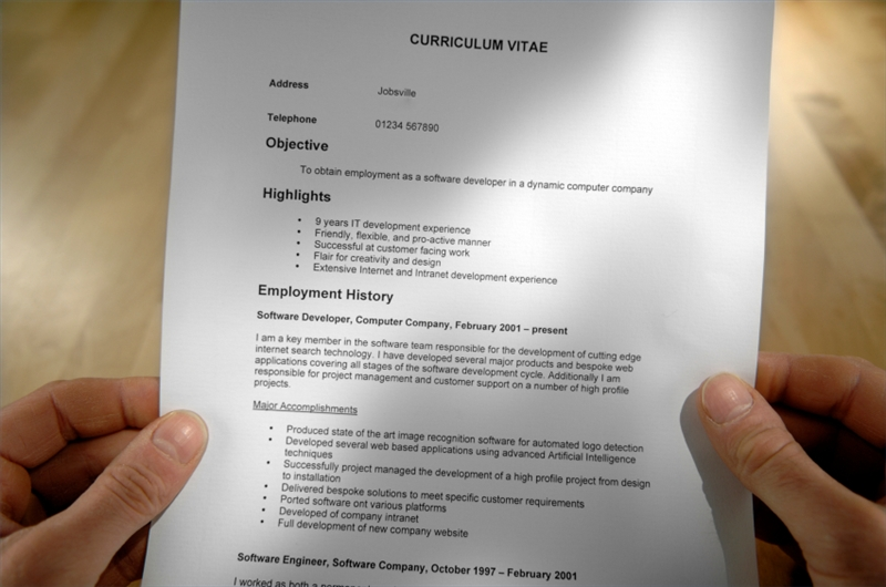 culpwrit » Stick With Basic, One-Page Resume