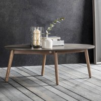 Brooklyn Oval Coffee Table Concrete | Modern Coffee & Side ...