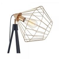Black & Gold Hamilton Caged Tripod Floor Lamp | Industrial ...