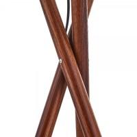 Walnut Finish Albany Wooden Tripod Floor Lamp | Modern ...