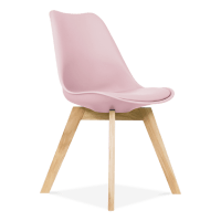 Pastel Pink Dining Chair Oak Crossed Wood Legs | Cult ...