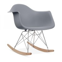 Eames Style Grey RAR Rocker Chair | Wood Rocking Chairs ...