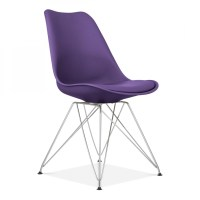 Purple Eames Style Eiffel Chair | Cafe & Dining Chairs ...