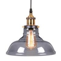 Black Edison Bowl Glass Pendant Light | Bar & Restaurant ...