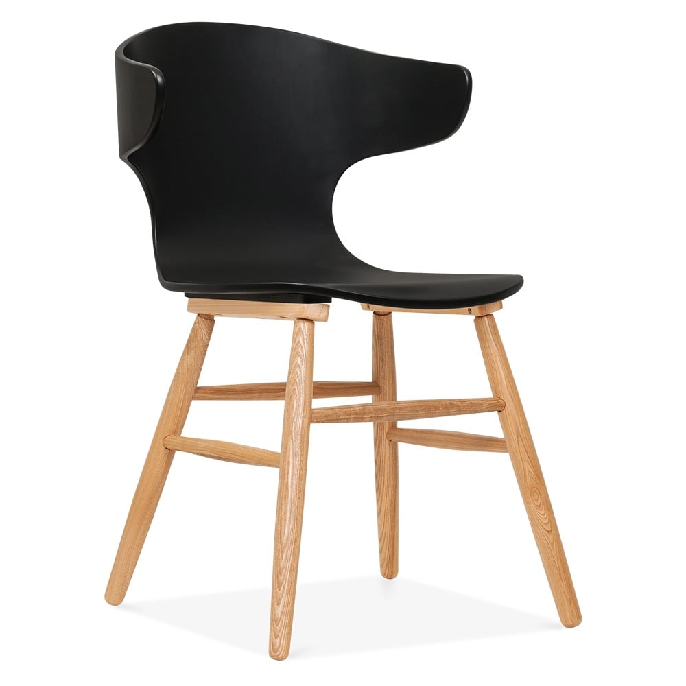 Cult Living Elin Curved Back Dining Chair Black