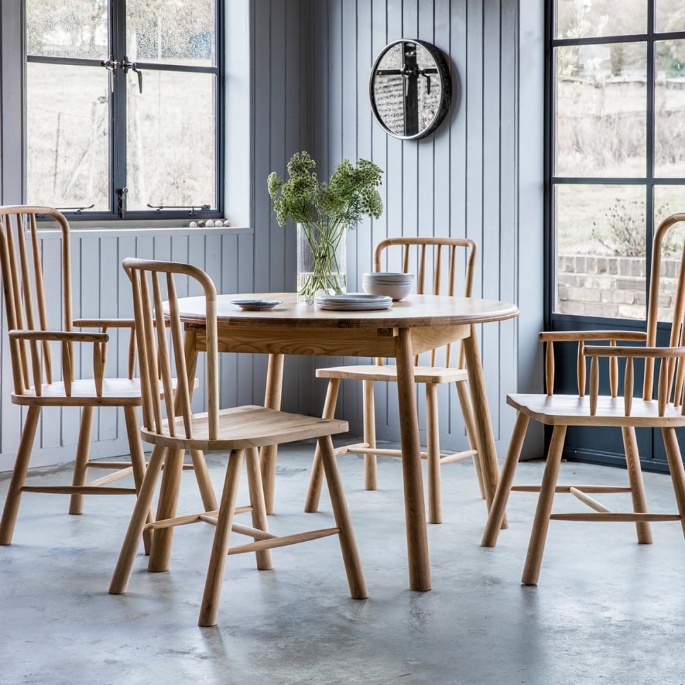 Alpine Round Extendable Dining Table Oak