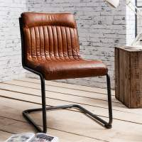 Blake Brown Leather Upholstered Dining Chair | Modern ...