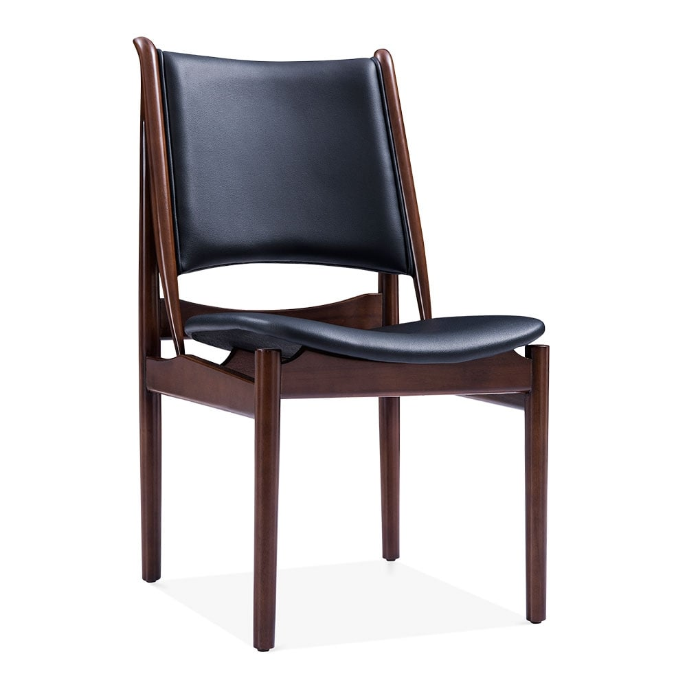 Black Faux Leather Jonah Dining Chair