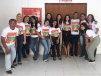 Equipe da Universidade Federal do Maranhão e apoiadores responsáveis pelo Projeto Guarnicê em Itinerância.