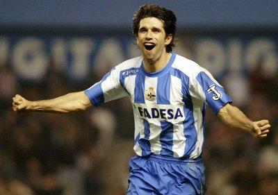 Valerón estuvo 13 años en el Deportivo La Coruña, donde se convirtió en ídolo.