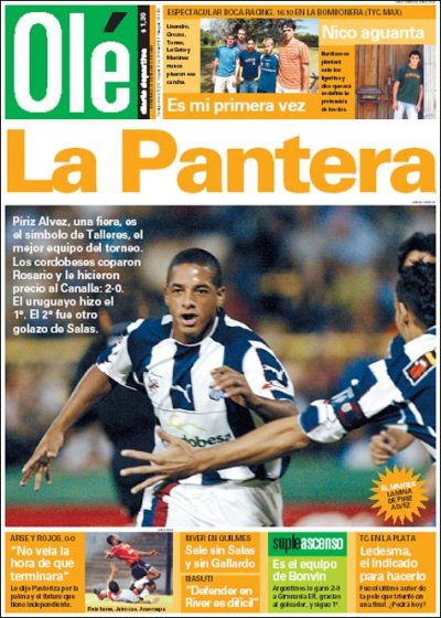 Portada Diario Olé, sexta fecha Torneo Clausura 2004.