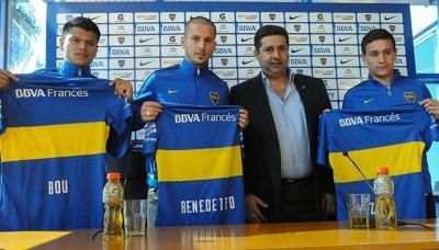 Bou, Benedetto y Zuqui, reforzaron a Boca.